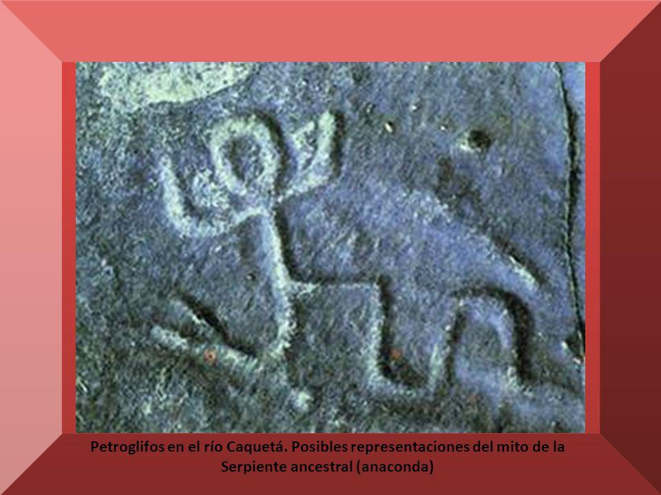 Petroglifos en el río Caquetá