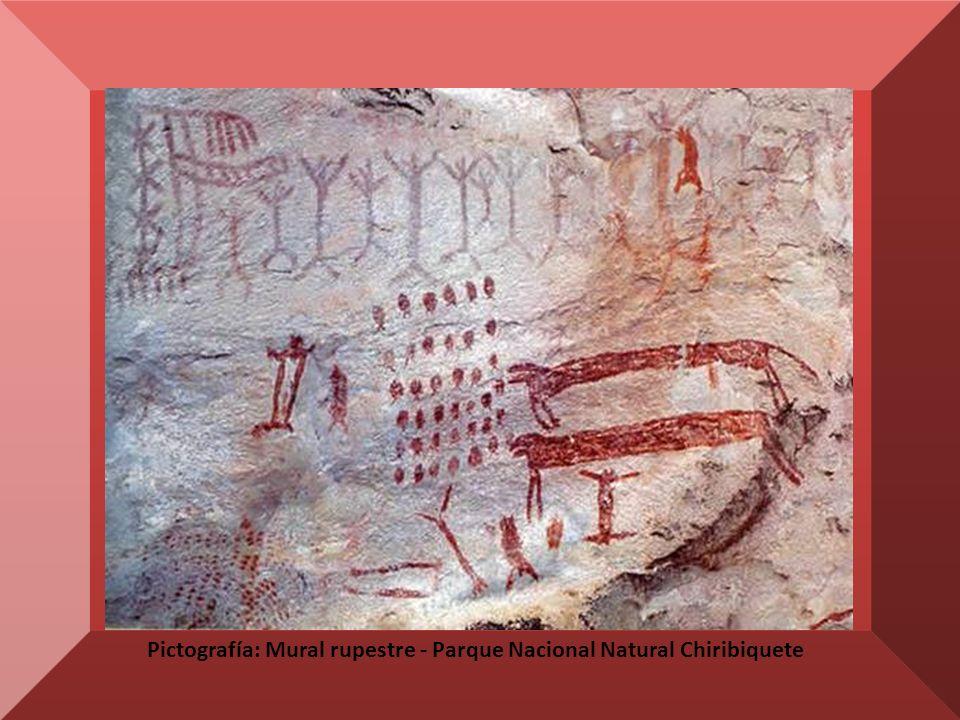 Pictografía: Mural rupestre - Parque Nacional Natural Chiribiquete