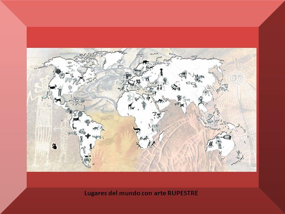 Lugares del mundo con arte RUPESTRE