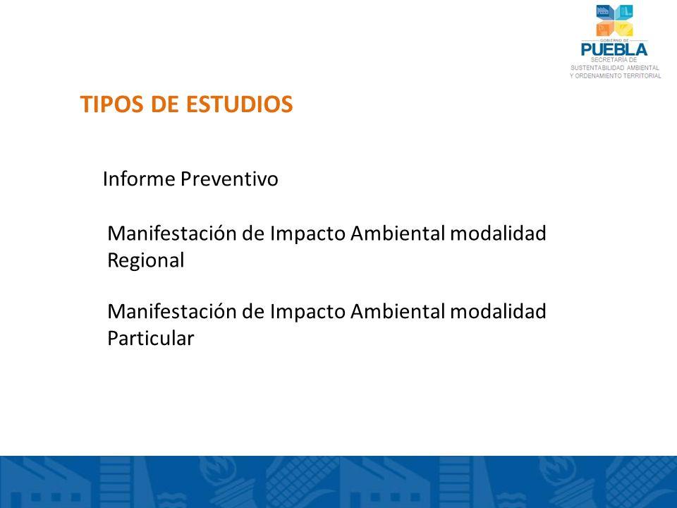 TIPOS DE ESTUDIOS Informe Preventivo