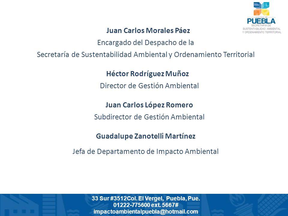 Juan Carlos Morales Páez Encargado del Despacho de la