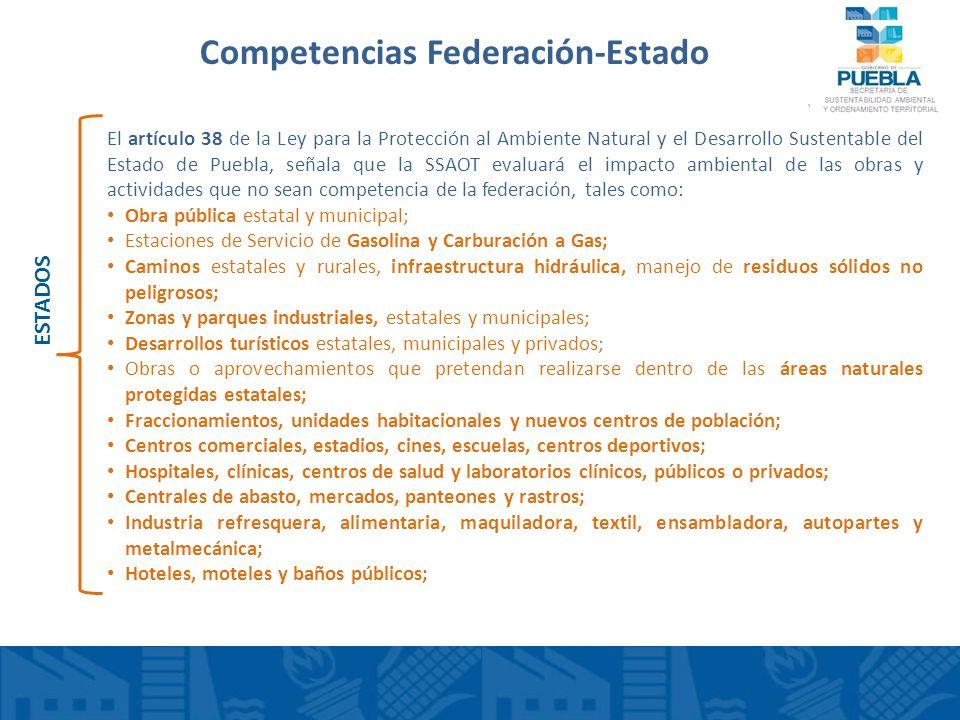 Competencias Federación-Estado