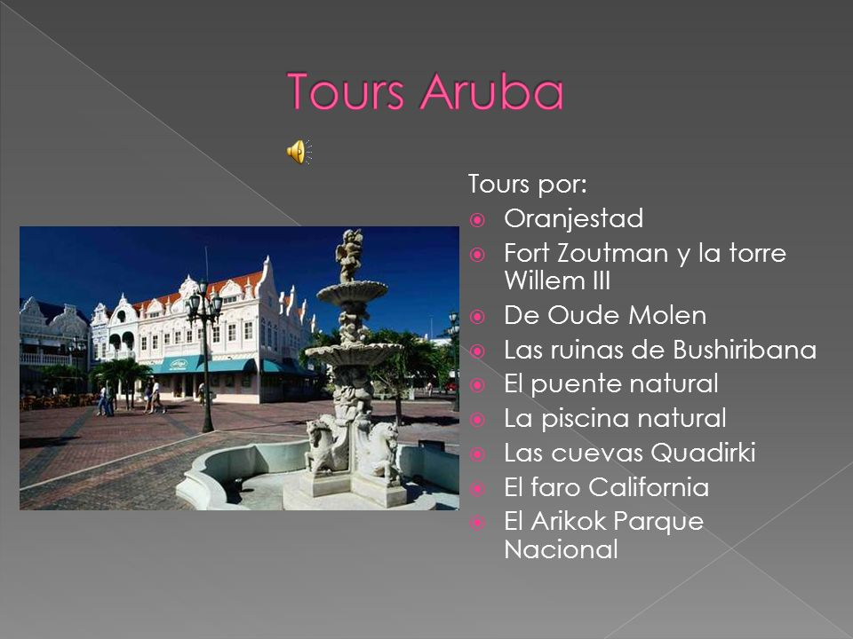 Tours Aruba Tours por: Oranjestad Fort Zoutman y la torre Willem III