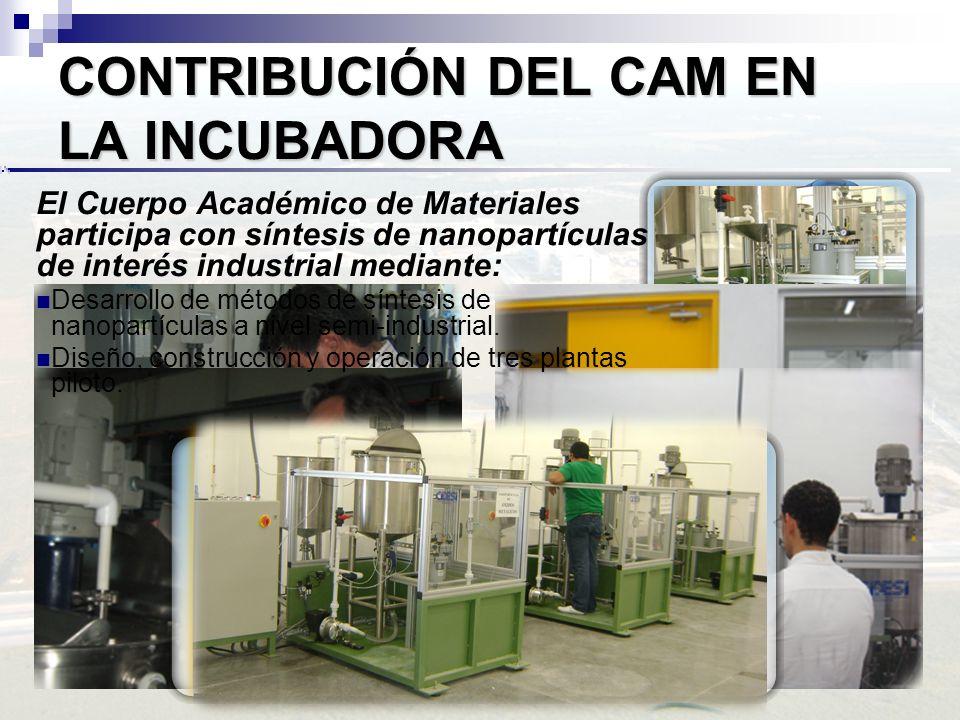 CONTRIBUCIÓN DEL CAM EN LA INCUBADORA