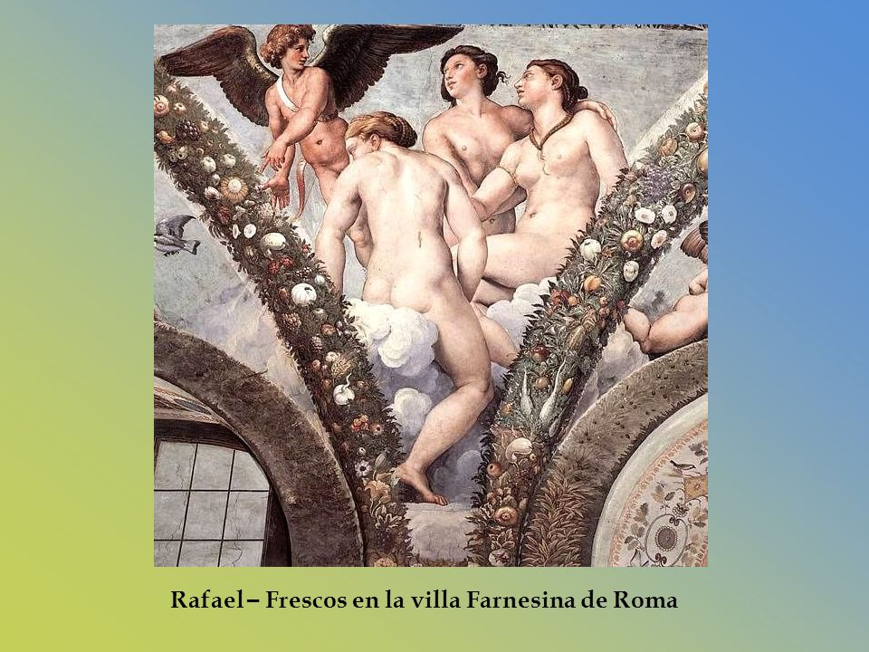 Rafael – Frescos en la villa Farnesina de Roma