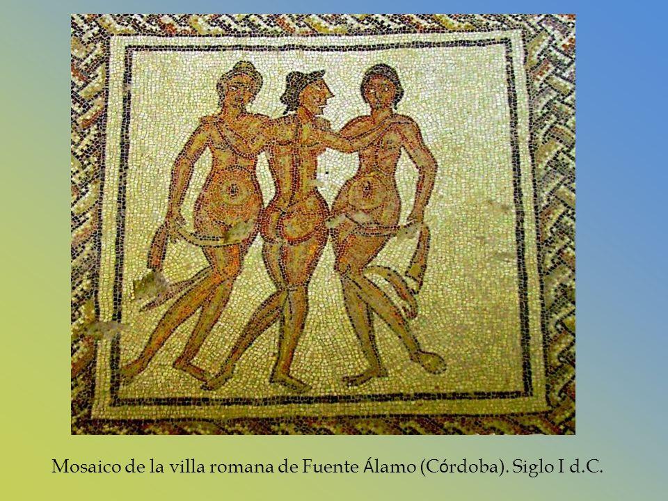 Mosaico de la villa romana de Fuente Álamo (Córdoba). Siglo I d.C.