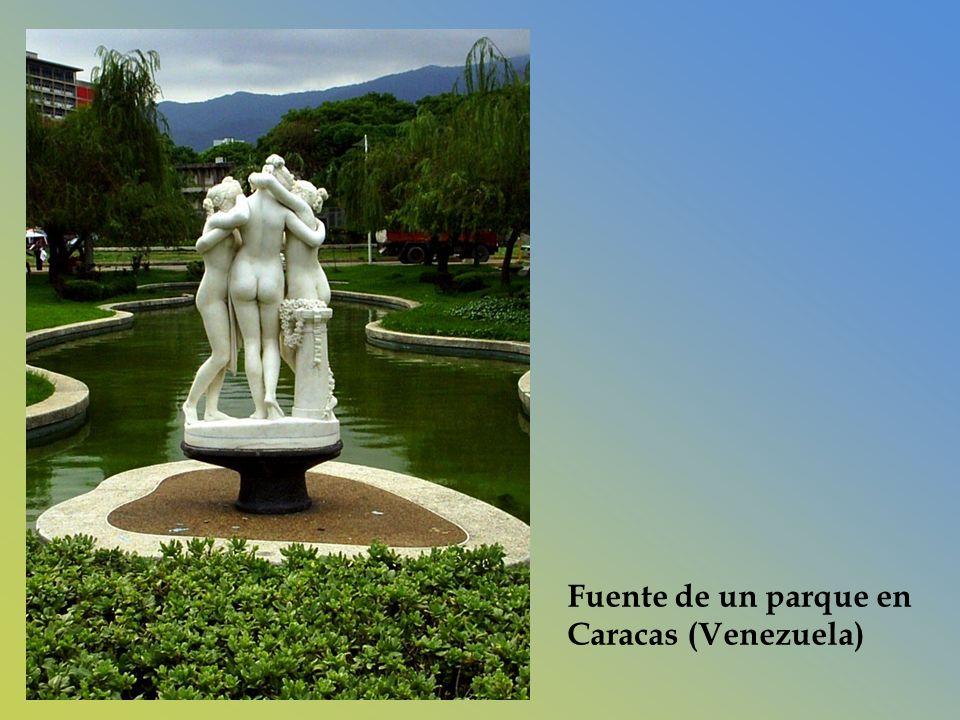Fuente de un parque en Caracas (Venezuela)
