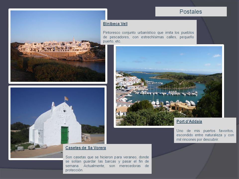 Postales Binibeca Vell Port d'Addaia Casetes de Sa Vorera