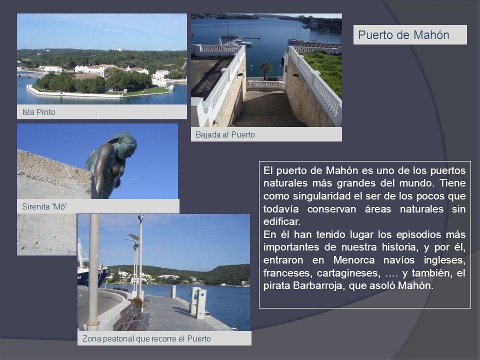 Puerto de Mahón Isla Pinto. Bajada al Puerto.