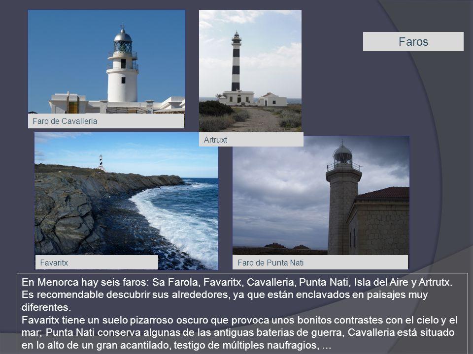Faros Faro de Cavalleria. Artruxt. Favaritx. Faro de Punta Nati.