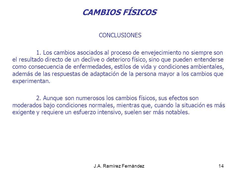 CAMBIOS FÍSICOS CONCLUSIONES