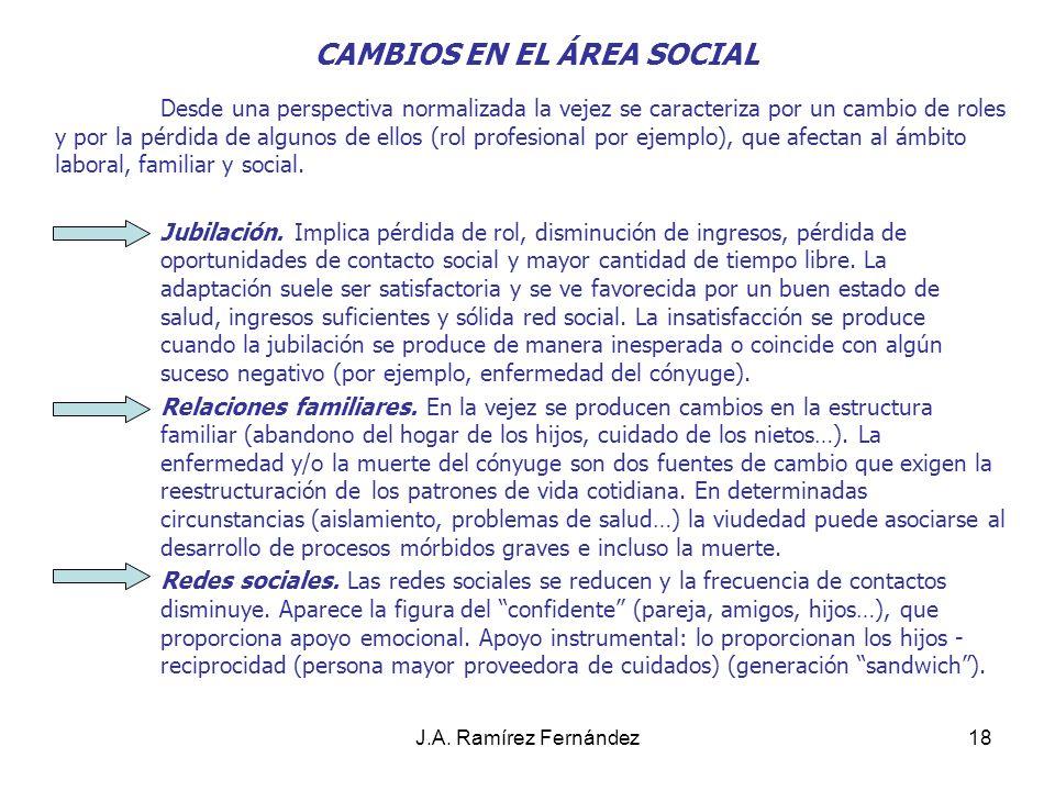 CAMBIOS EN EL ÁREA SOCIAL