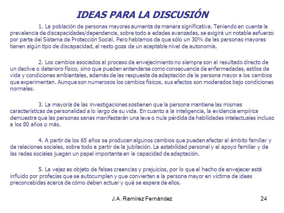 IDEAS PARA LA DISCUSIÓN
