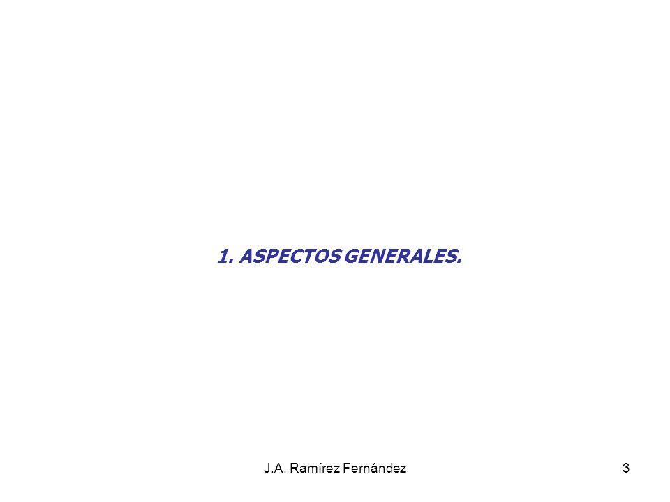 Juan A. Ramírez Fdez 1. ASPECTOS GENERALES. J.A. Ramírez Fernández