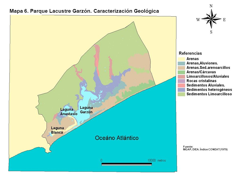 Mapa 6. Parque Lacustre Garzón. Caracterización Geológica