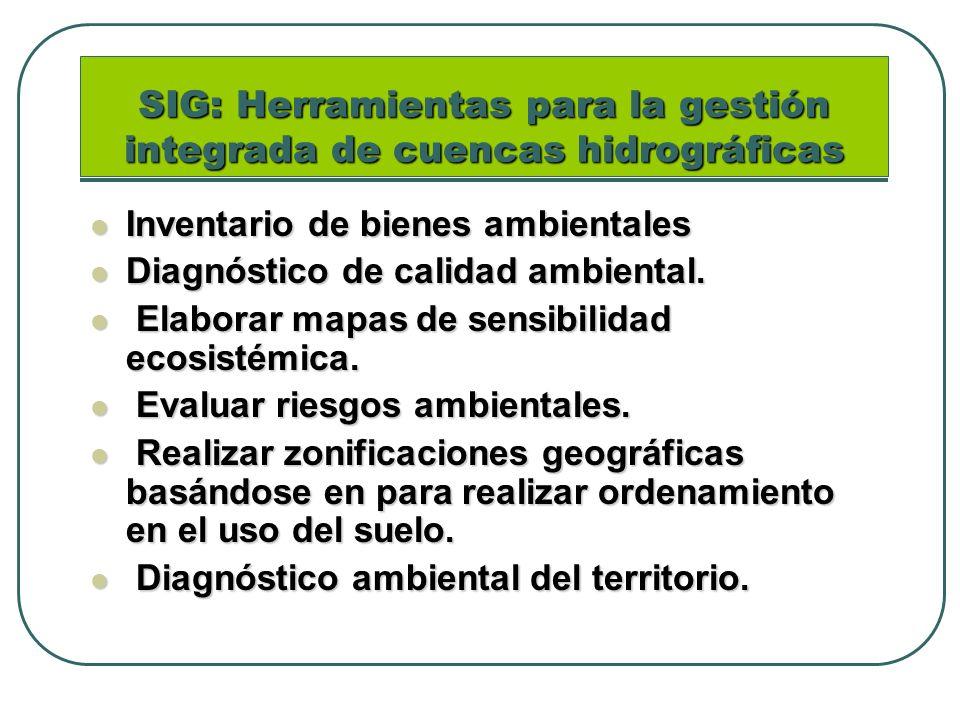 SIG: Herramientas para la gestión integrada de cuencas hidrográficas