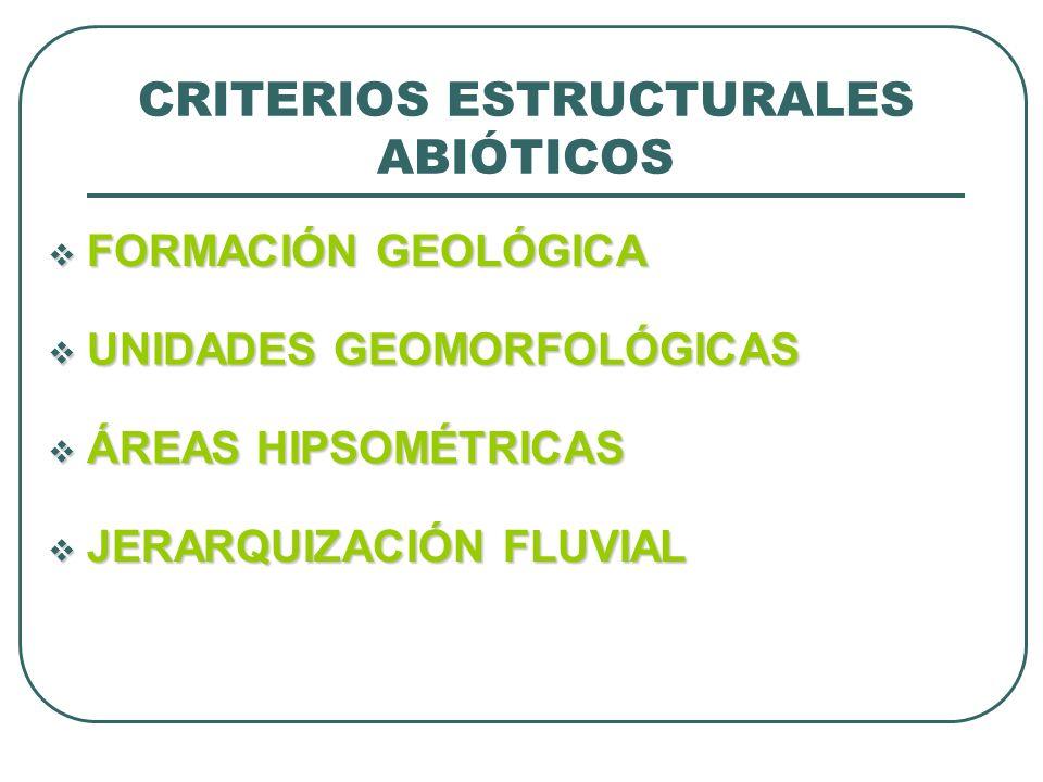 CRITERIOS ESTRUCTURALES ABIÓTICOS