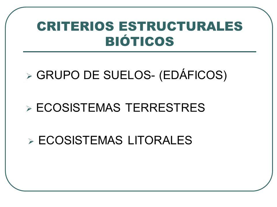 CRITERIOS ESTRUCTURALES BIÓTICOS