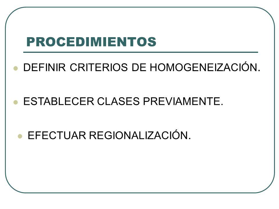 PROCEDIMIENTOS DEFINIR CRITERIOS DE HOMOGENEIZACIÓN.