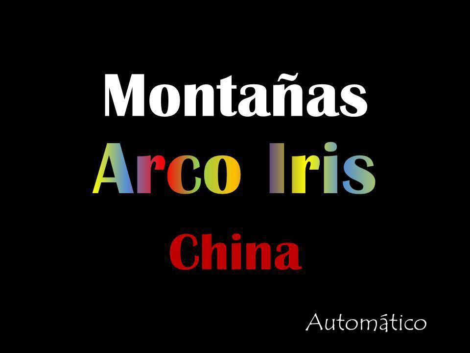 Montañas Arco Iris China Automático