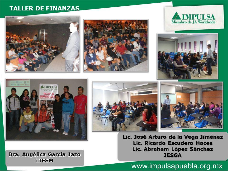 TALLER DE FINANZAS Lic. José Arturo de la Vega Jiménez