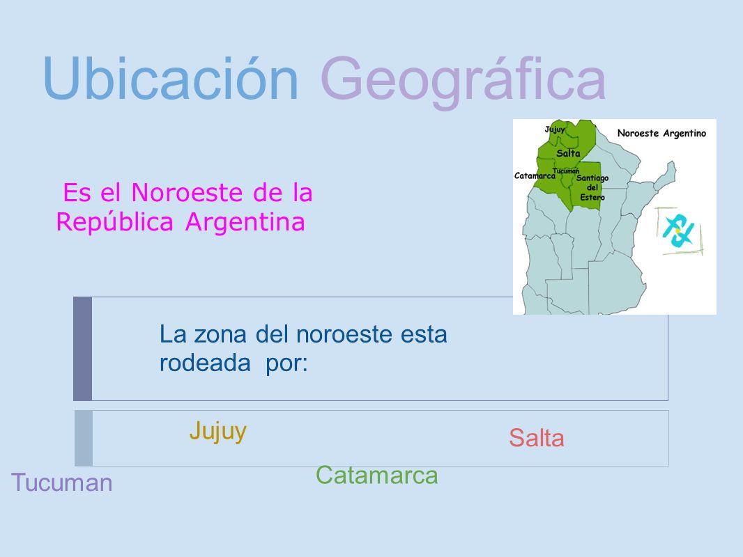Ubicación Geográfica Es el Noroeste de la República Argentina