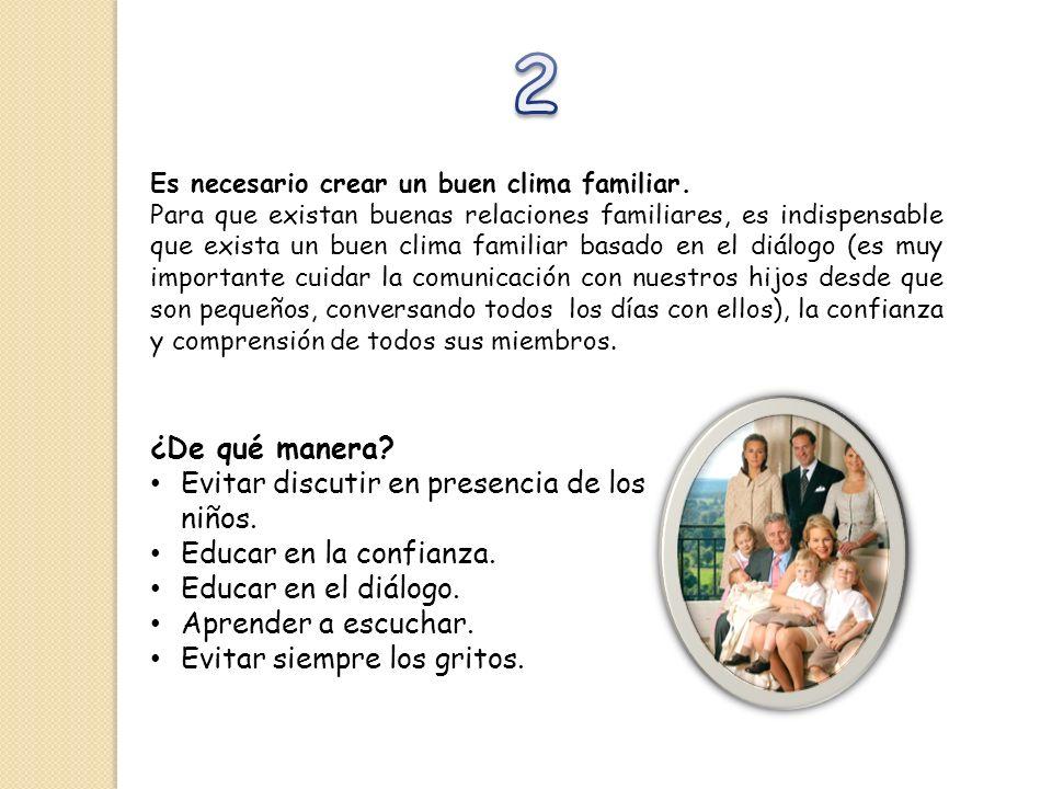 2 ¿De qué manera Evitar discutir en presencia de los niños.