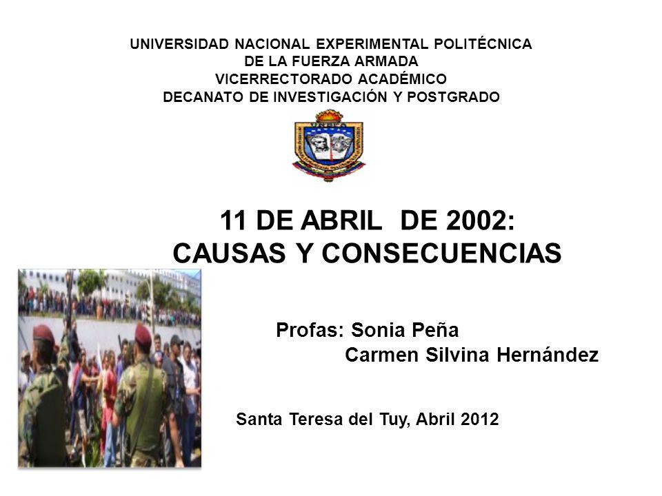 11 DE ABRIL DE 2002: CAUSAS Y CONSECUENCIAS