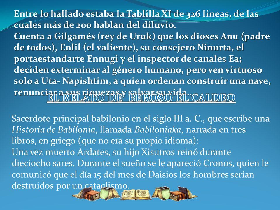 EL RELATO DE BEROSO EL CALDEO