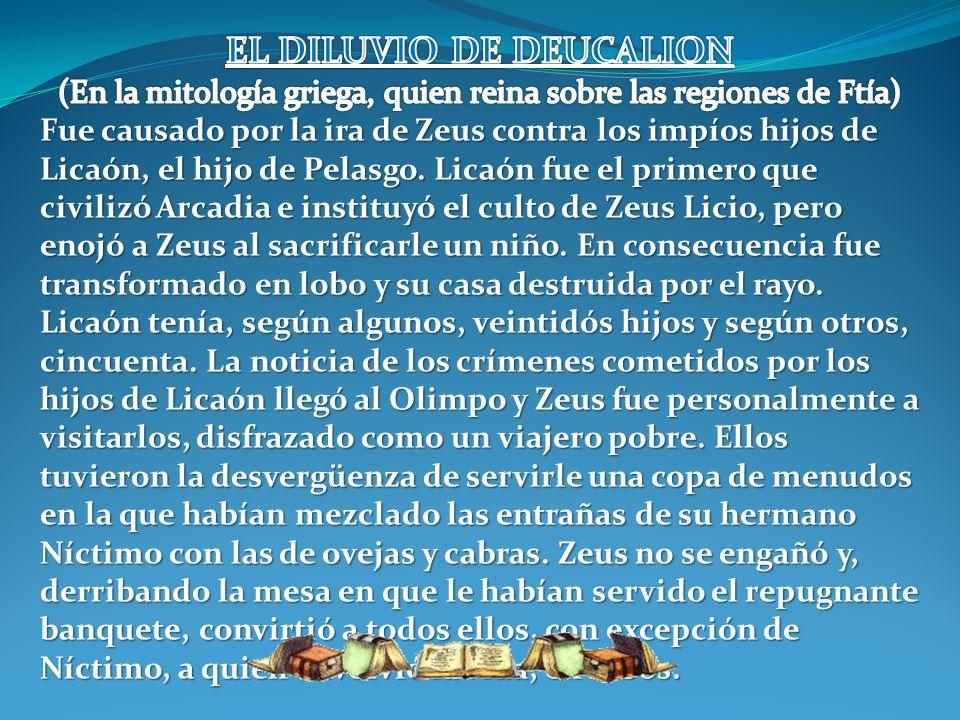 EL DILUVIO DE DEUCALION