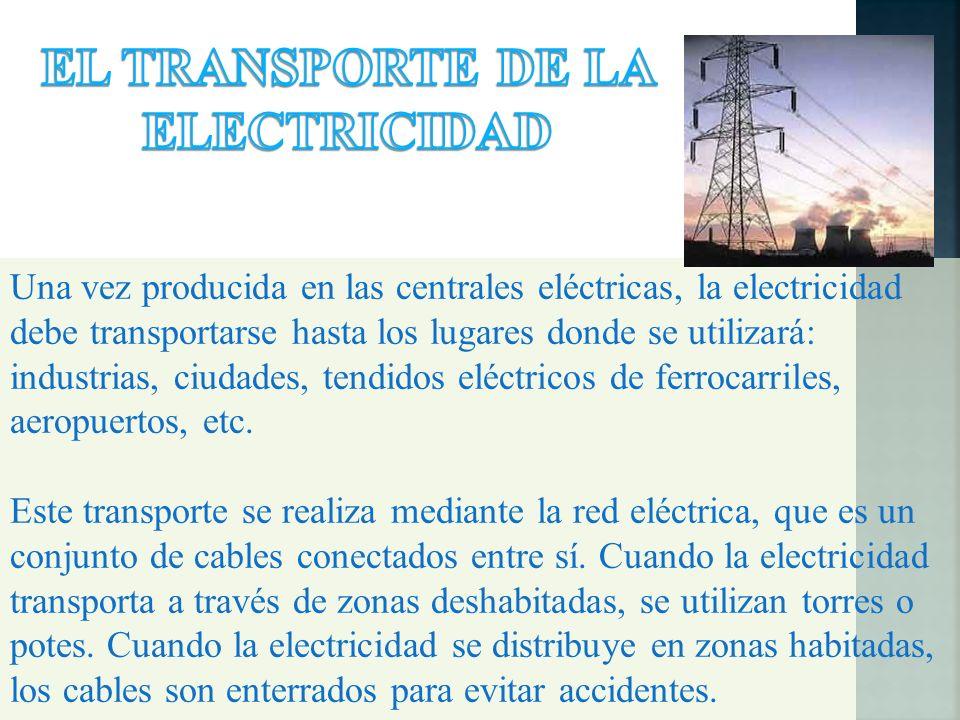 EL TRANSPORTE DE LA ELECTRICIDAD