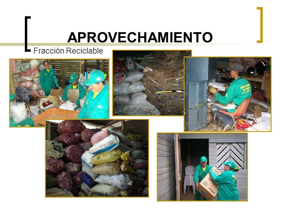 APROVECHAMIENTO Fracción Reciclable