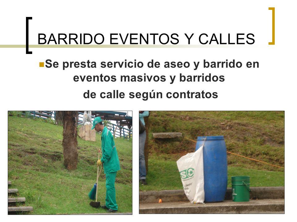 BARRIDO EVENTOS Y CALLES