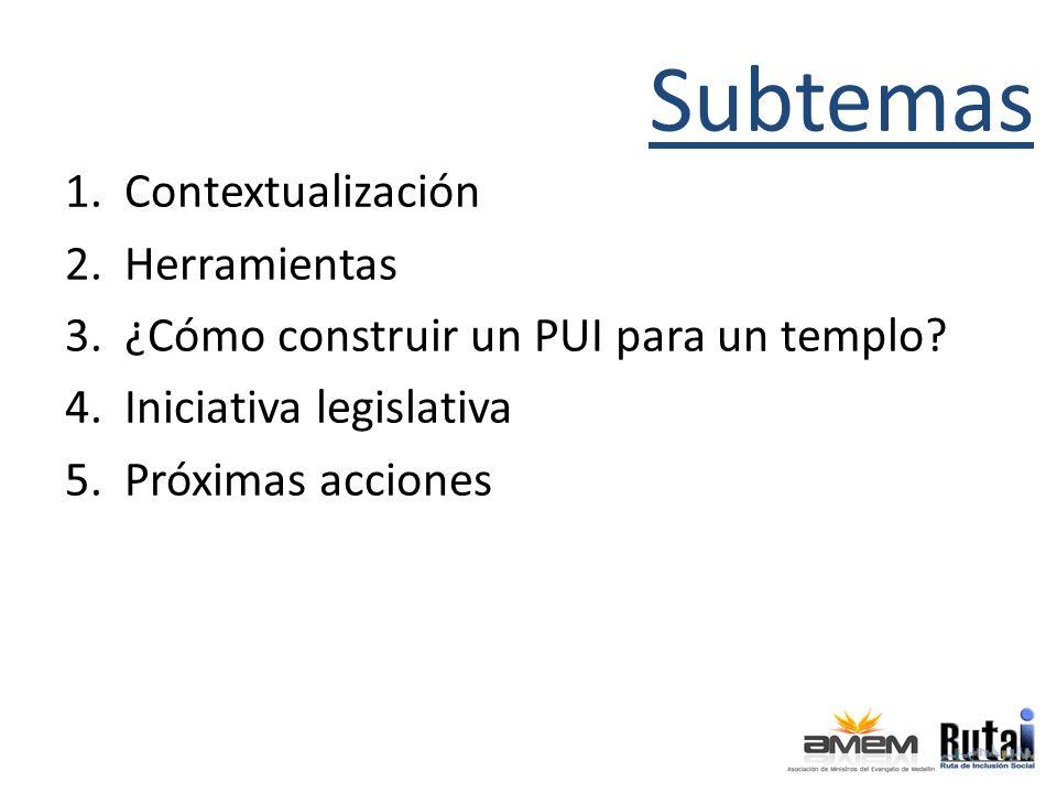 Subtemas Contextualización Herramientas