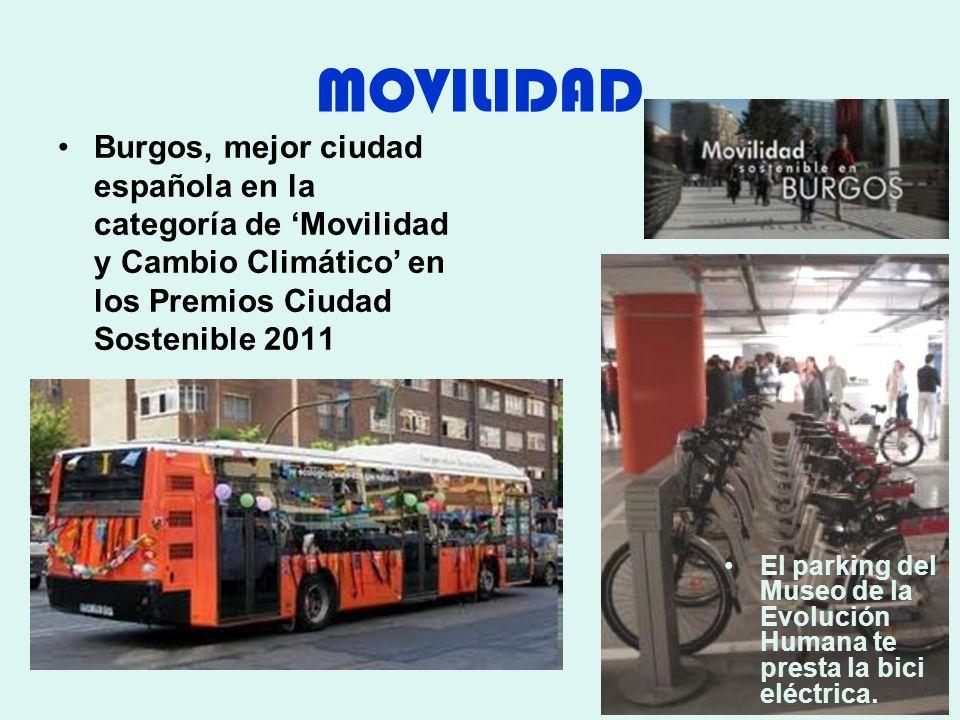 MOVILIDAD Burgos, mejor ciudad española en la categoría de 'Movilidad y Cambio Climático' en los Premios Ciudad Sostenible 2011.