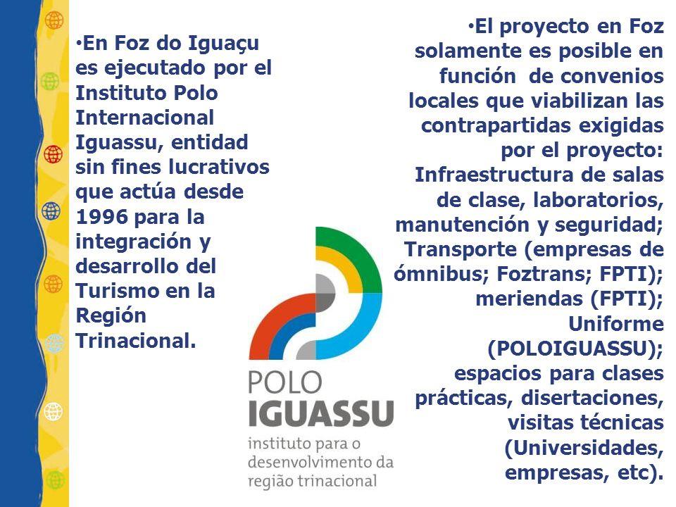 En Foz do Iguaçu es ejecutado por el Instituto Polo Internacional Iguassu, entidad sin fines lucrativos que actúa desde 1996 para la integración y desarrollo del Turismo en la Región