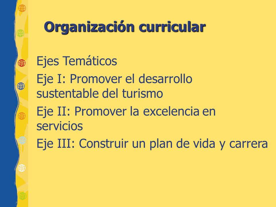 Organización curricular