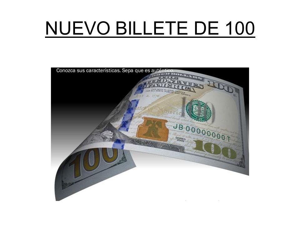 NUEVO BILLETE DE 100