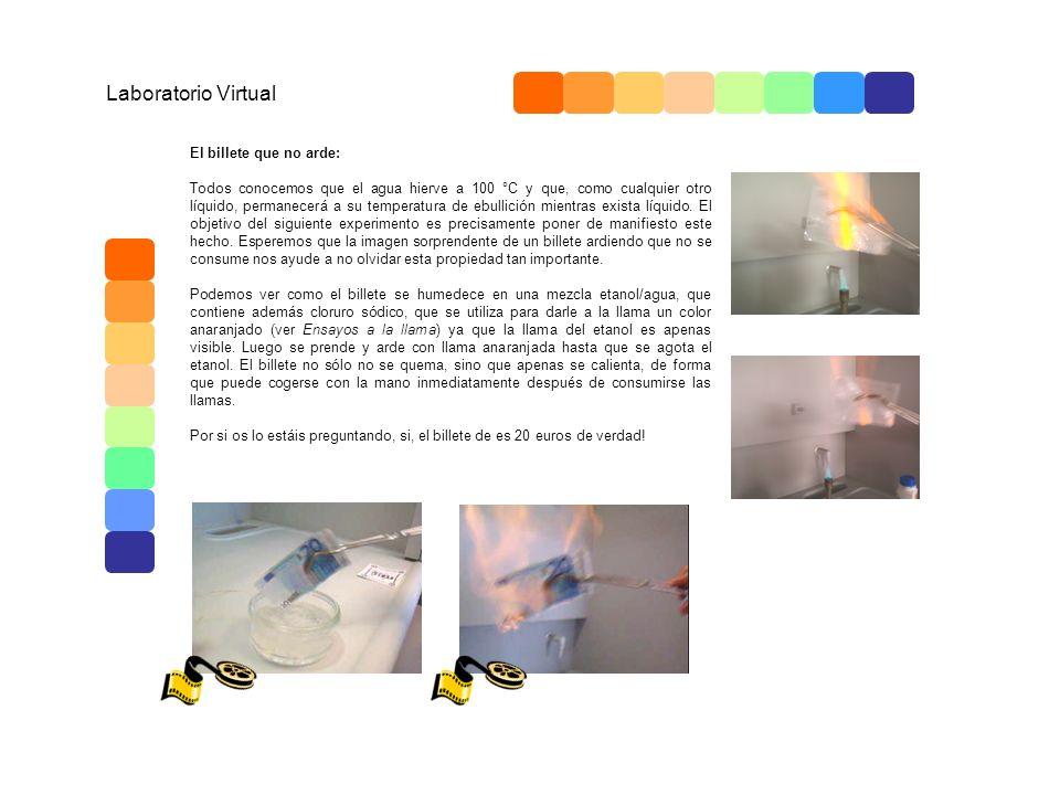 Laboratorio Virtual El billete que no arde:
