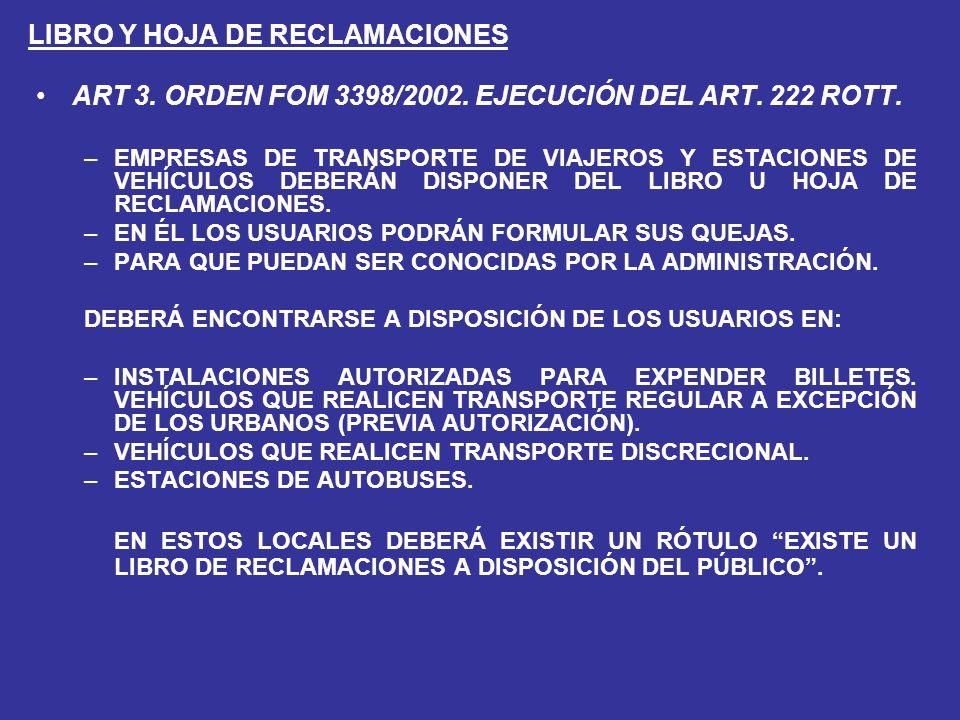 LIBRO Y HOJA DE RECLAMACIONES