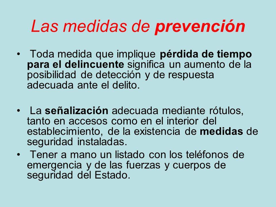 Las medidas de prevención