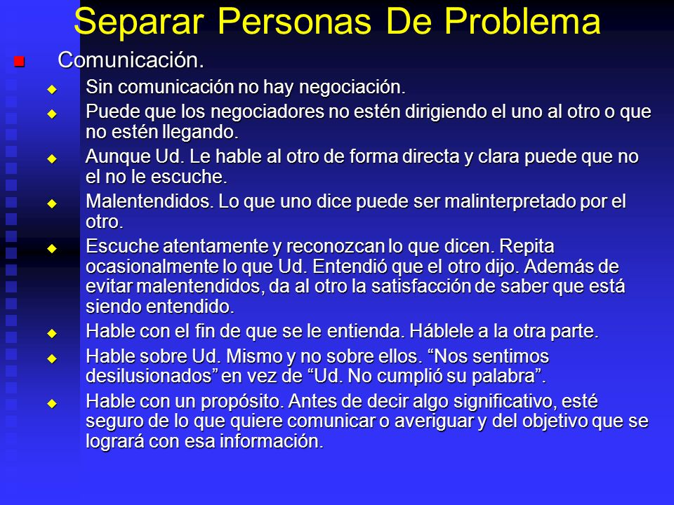 Separar Personas De Problema