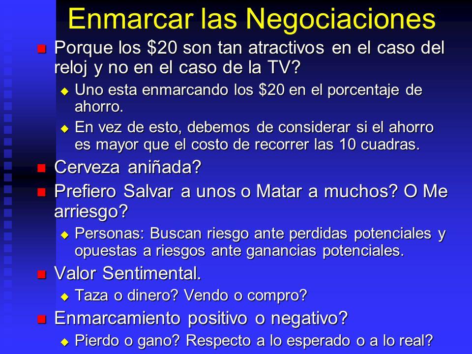 Enmarcar las Negociaciones