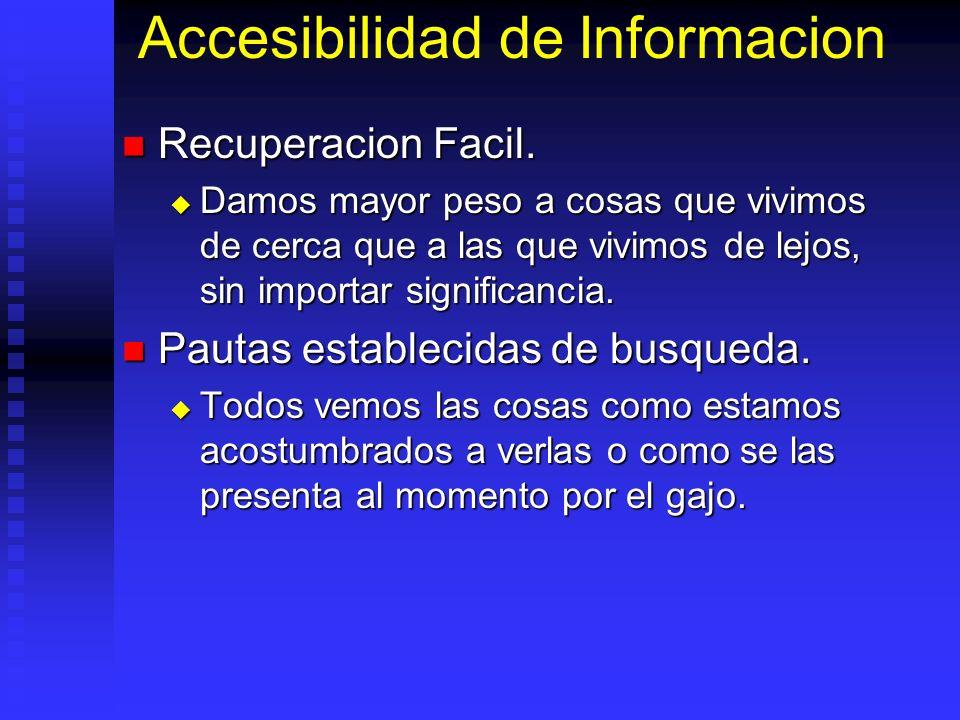 Accesibilidad de Informacion