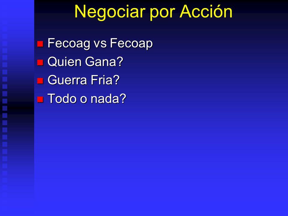 Negociar por Acción Fecoag vs Fecoap Quien Gana Guerra Fria