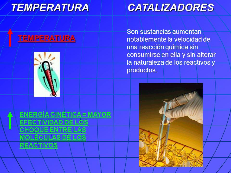TEMPERATURA CATALIZADORES