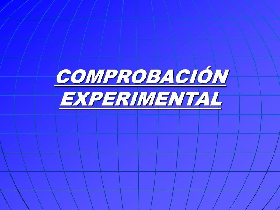 COMPROBACIÓN EXPERIMENTAL