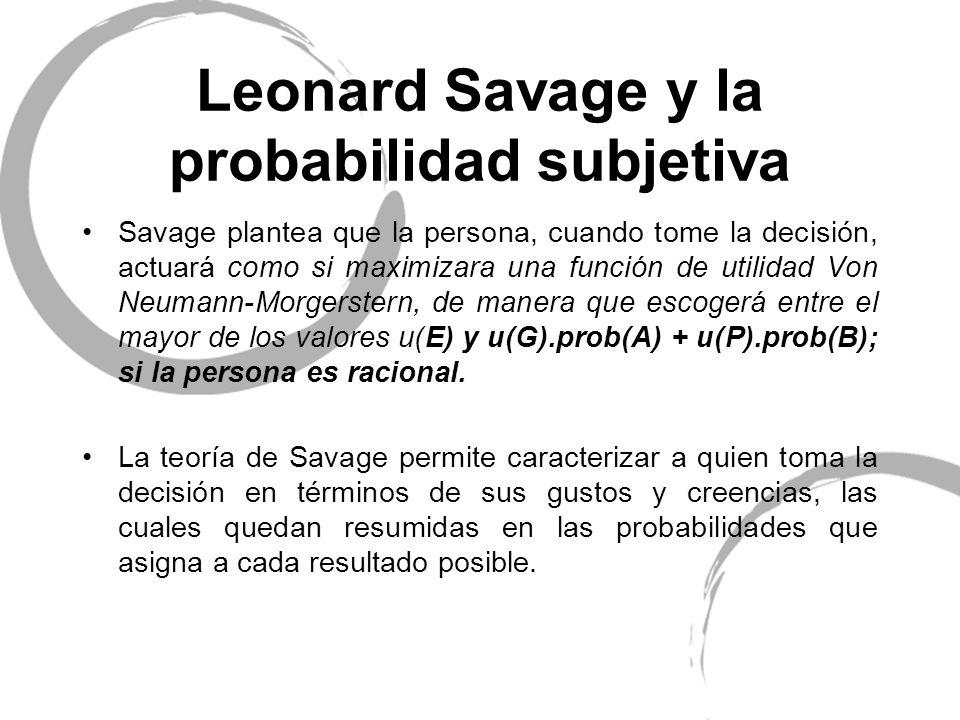 Leonard Savage y la probabilidad subjetiva