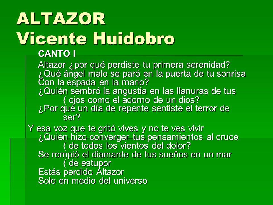 ALTAZOR Vicente Huidobro