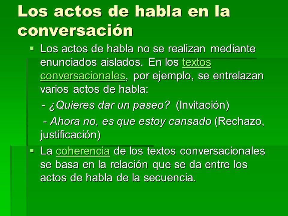 Los actos de habla en la conversación